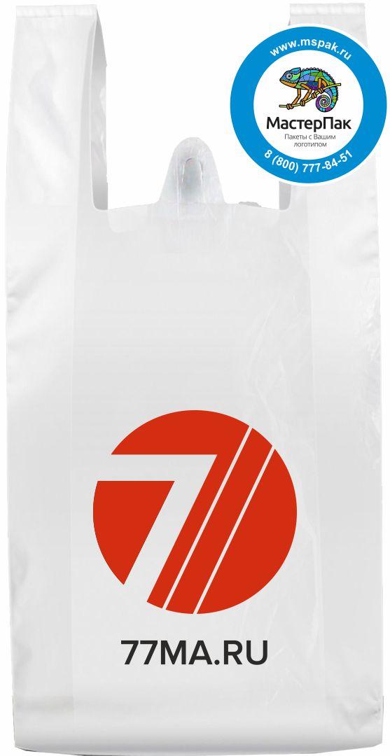 Пакет ПНД майка с логотипом для магазина медицинской одежды 77MA