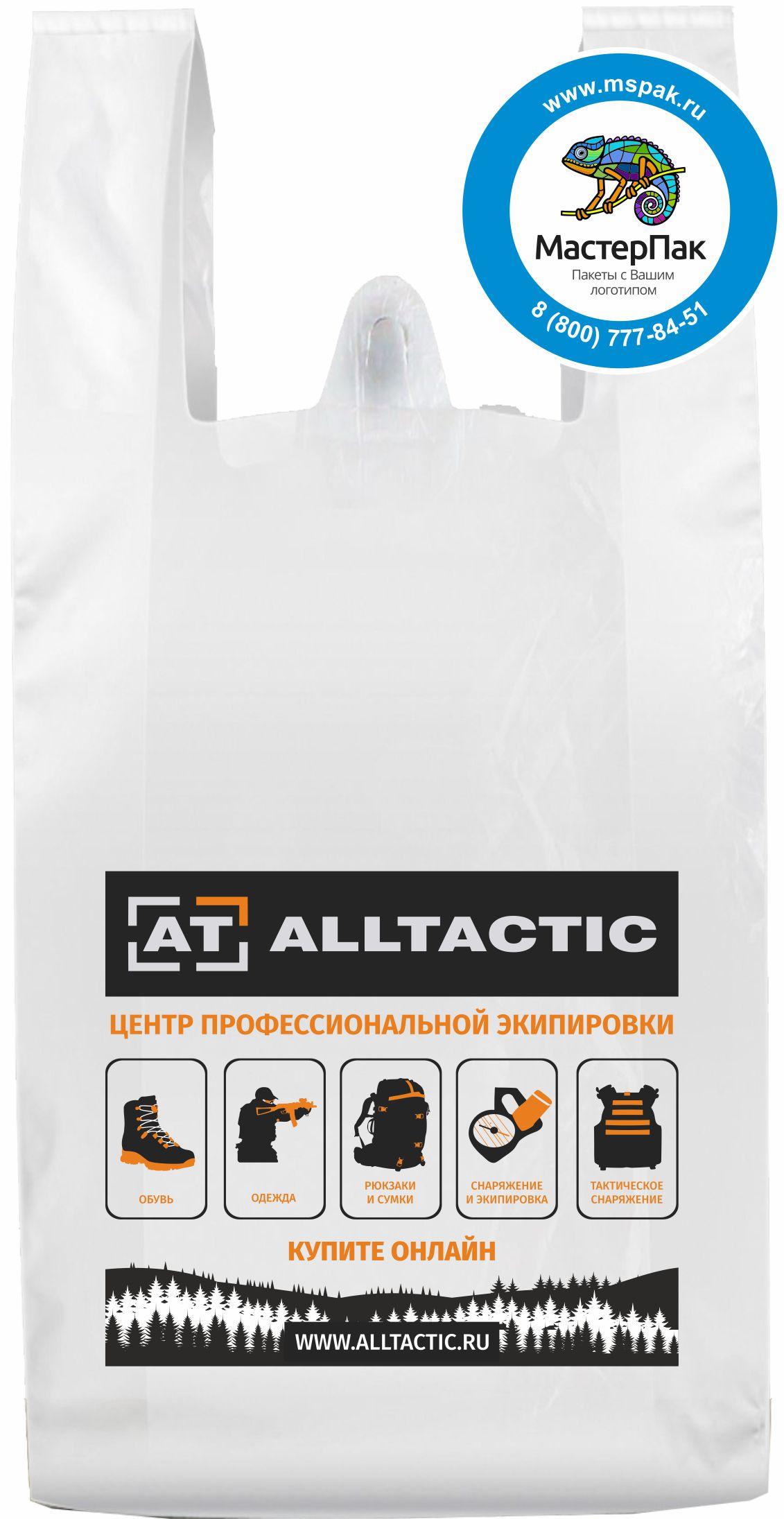 Пакет майка с печатью для компании Alltactic.