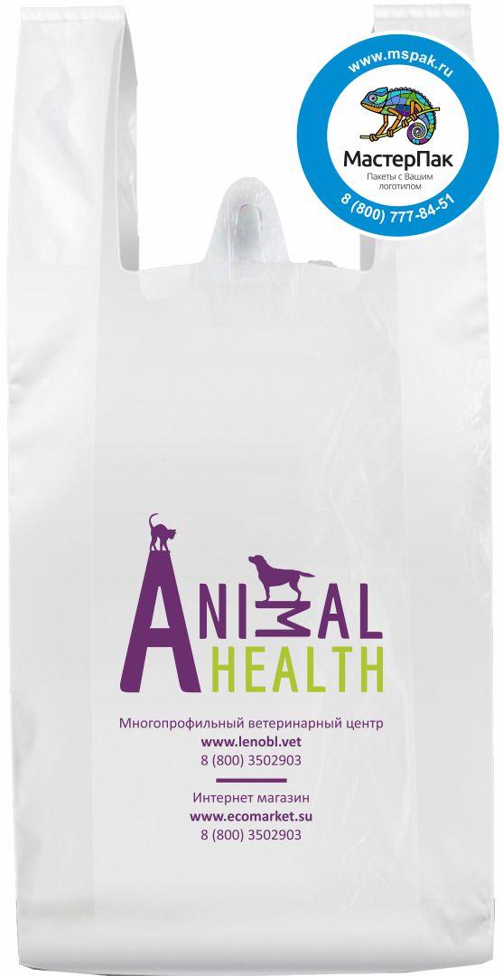 Пакет-майка ПНД, печать в 2 цвета с логотипом AnyMall Health