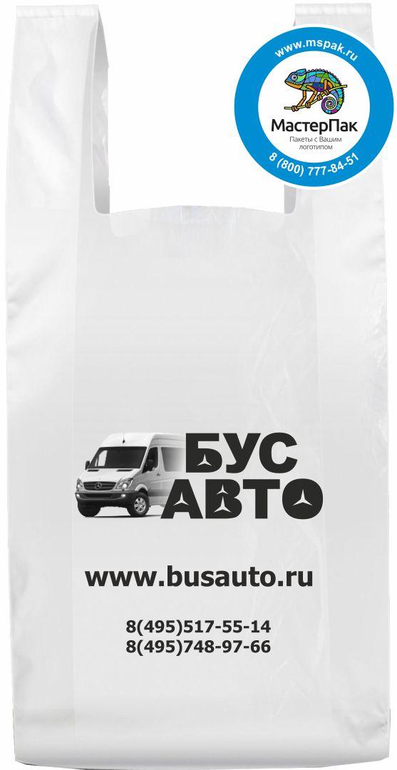 Пакет майка с высокой грузоподъемностью с лого Бус Авто