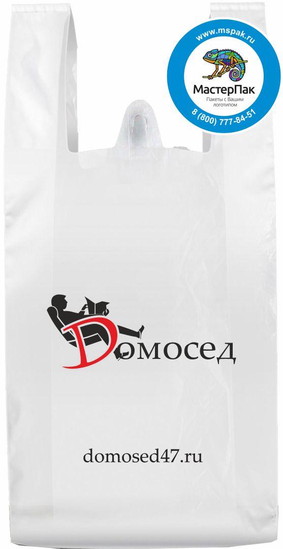 Пакет-майка ПНД с логотипом мебельного салона Dомосед