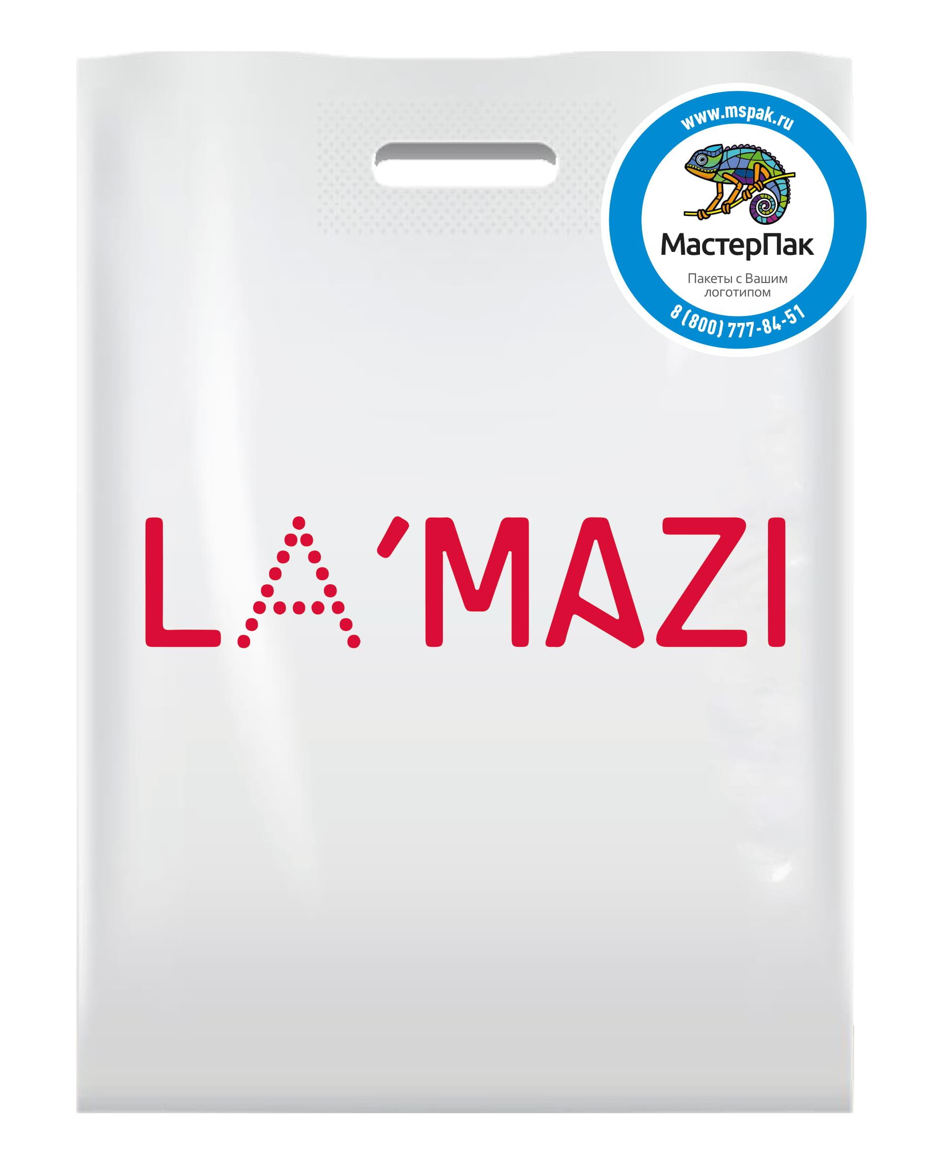 Пакет ПВД под заказ с логотипом салона обуви LaMazi, Ростов-на-Дону