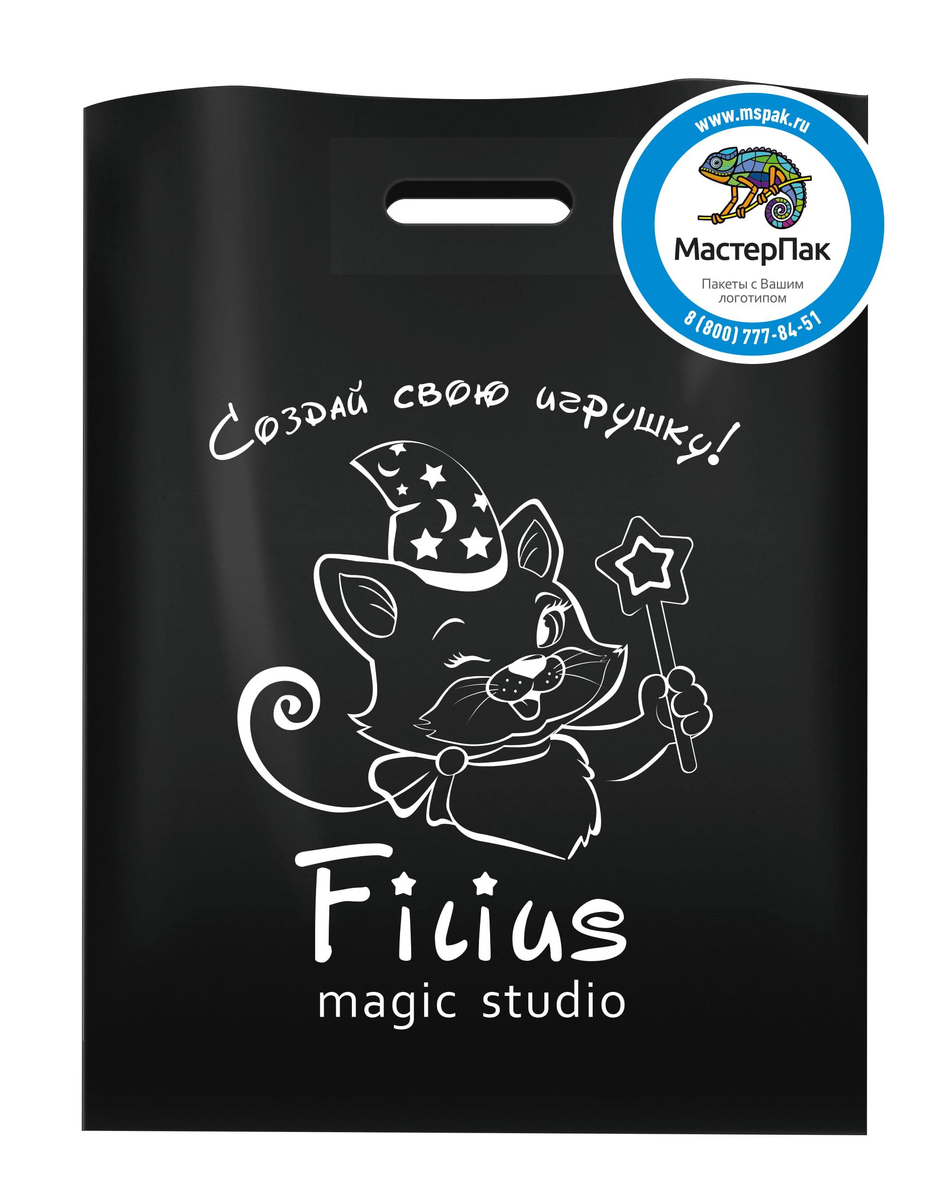 Пакет ПВД с логотипом Magic studio Filius,Москва