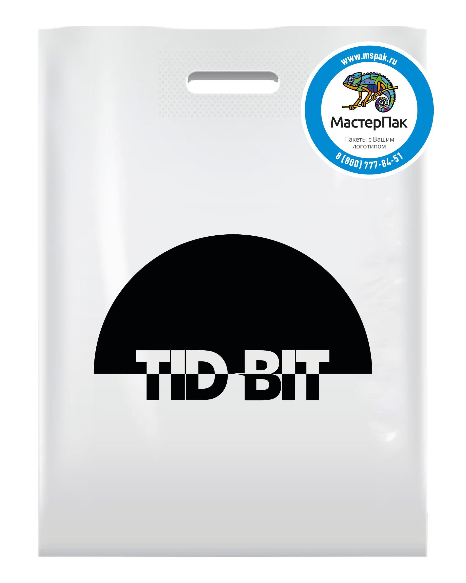 Пакет ПВД с логотипом кондитерской Tid Bit, Москва