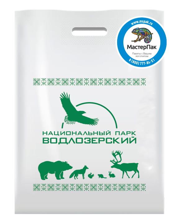 """Пакет ПВД с логотипом """"Национальный парк Водлозерский"""", Карелия, 70 мкм, 30*40 см"""
