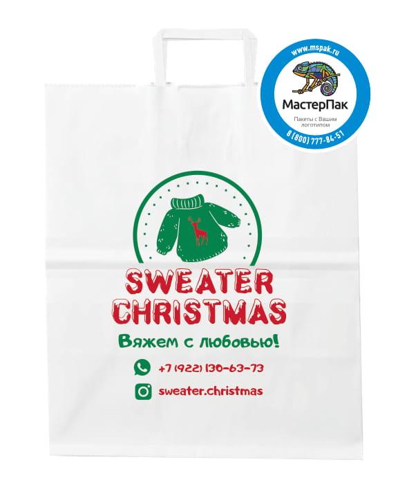 Крафт пакет с логотипом магазина Sweater christmas, Томск
