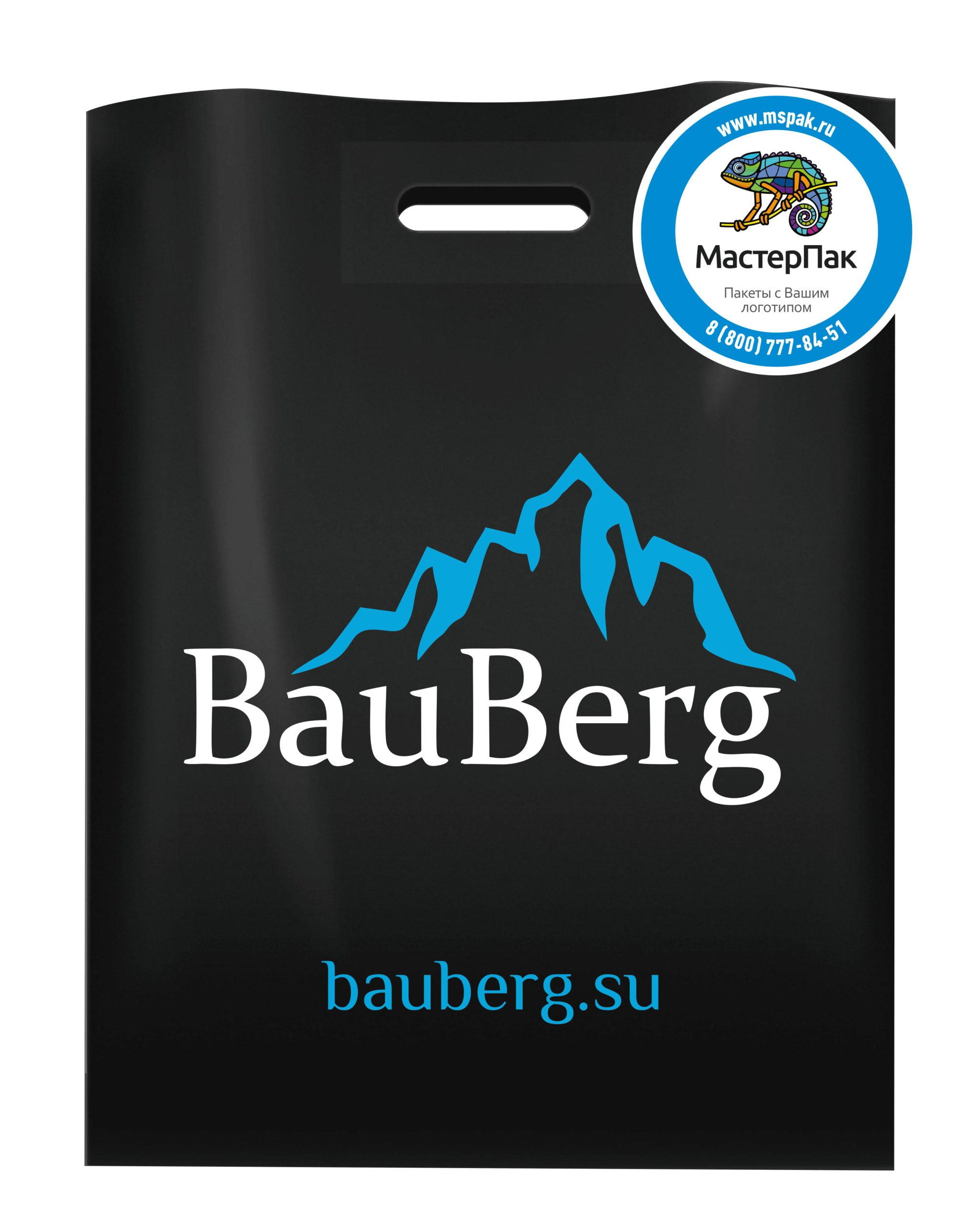 Пакет ПВД с вырубной ручкой и логотипом BauBerg, Санкт-Петербург