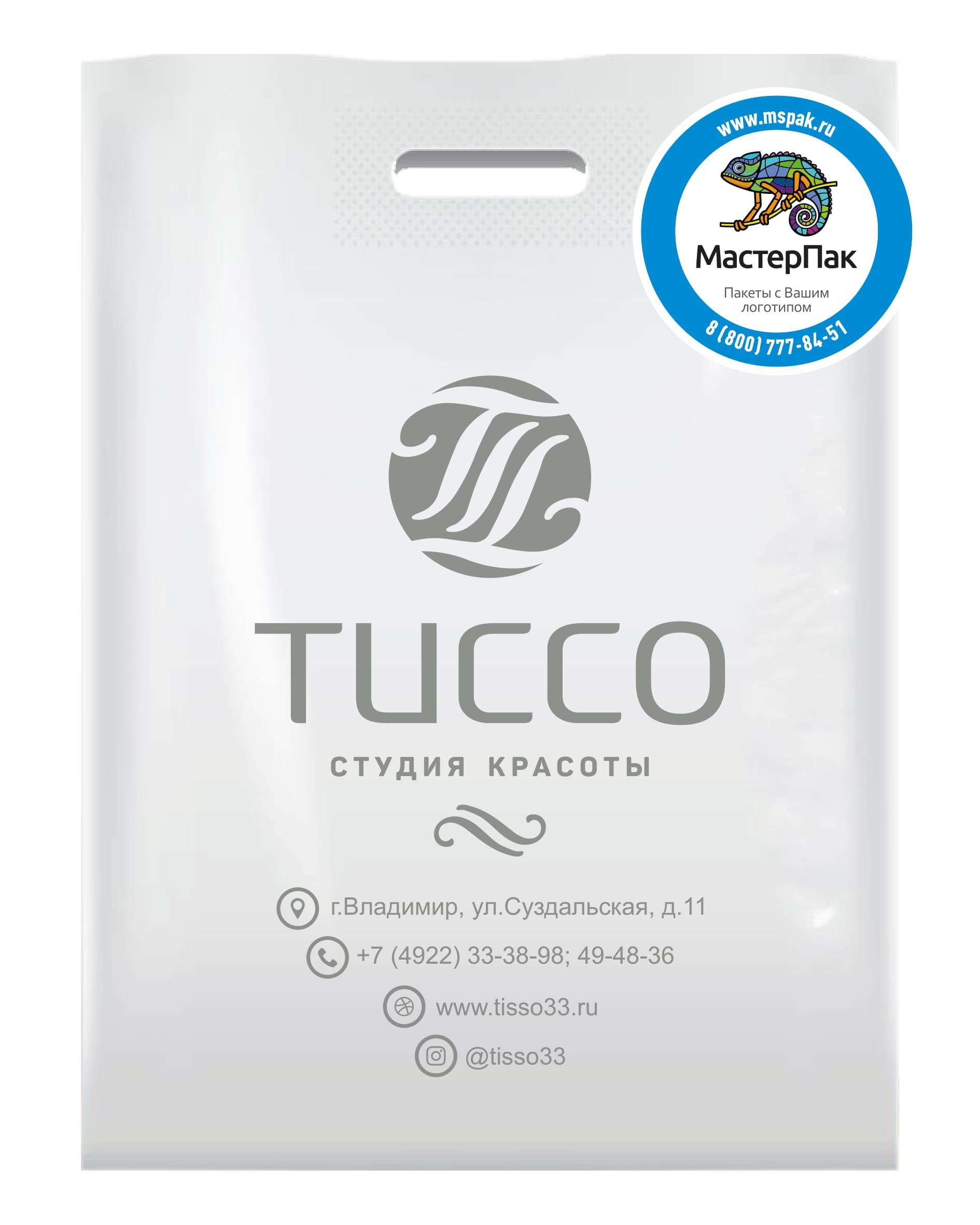 Пакет ПВД с вырубной ручкой и логотипом ТИССО, Владимир