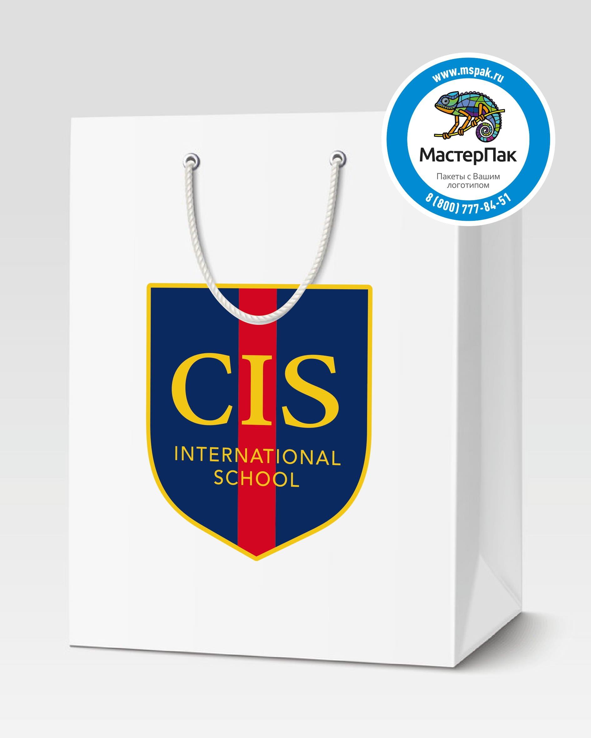 Пакет подарочный, бумажный с логотипом CIS, Москва