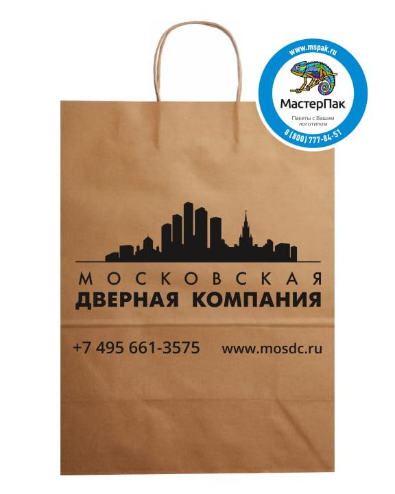 """Пакет крафт, бурый с логотипом """"Московская дверная компания"""", Москва"""
