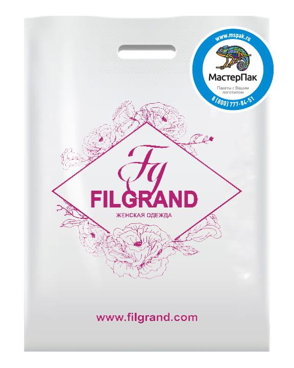 ПВД пакет магазина женской одежды Filgrand