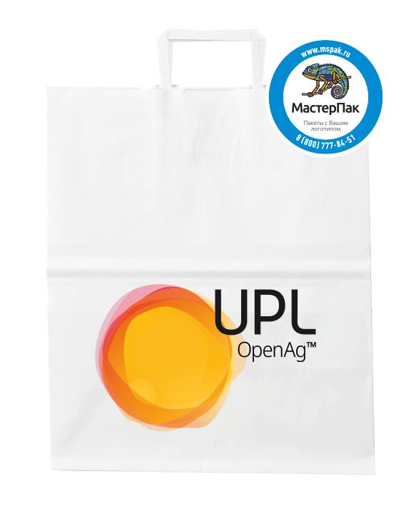 Пакет крафт, бумажный с логотипом UPL (шелкография), 80 гр, 29*16*40 см
