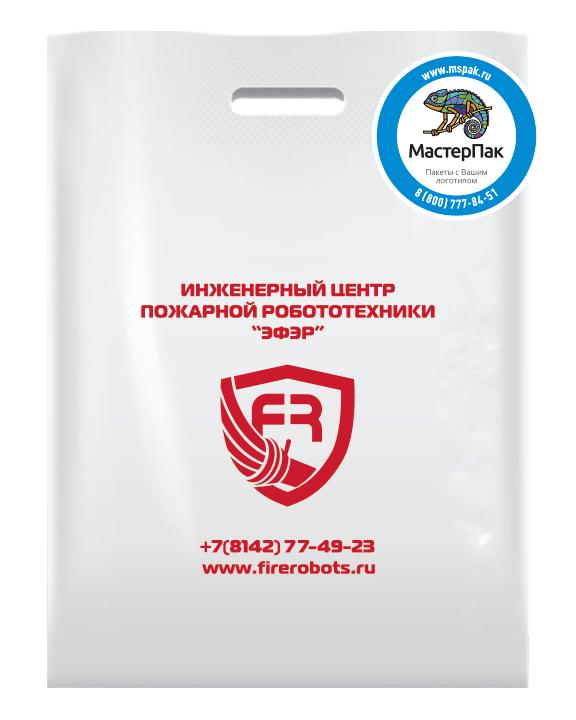 Брендированный пакет из ПВД в 70 мкм размером 36*45 см с логотипом инженерного центра ЭФЭР