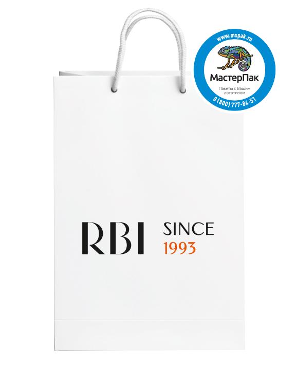 Бумажный подарочный пакет с логотипом RBI