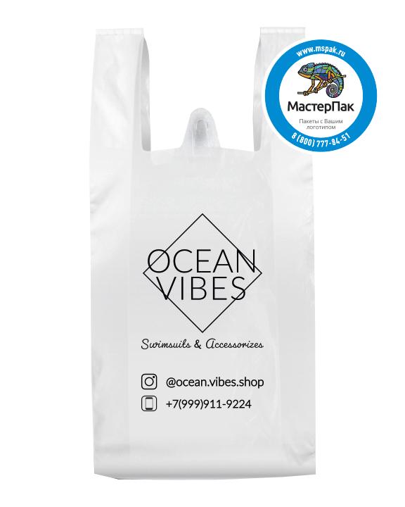 ПНД пакет-майка с логотипом (флексопечать) магазина Ocean Vibes (Москва)