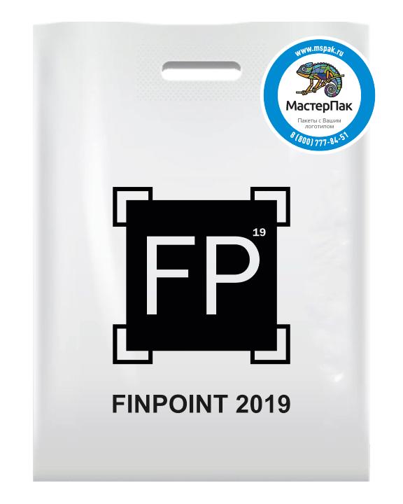ПВД пакет с вырубной ручной и логотипом FINPOINT