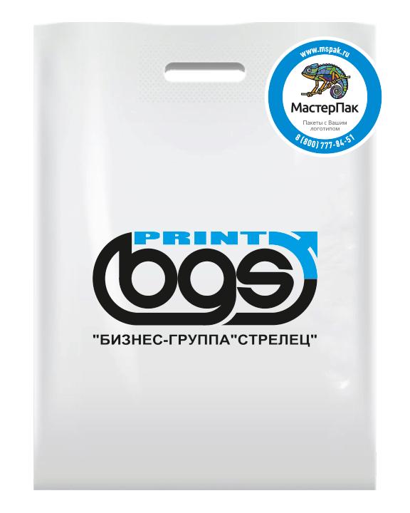 Полиэтиленовый ПВД пакет с логотипом PRINT BGS, Москва
