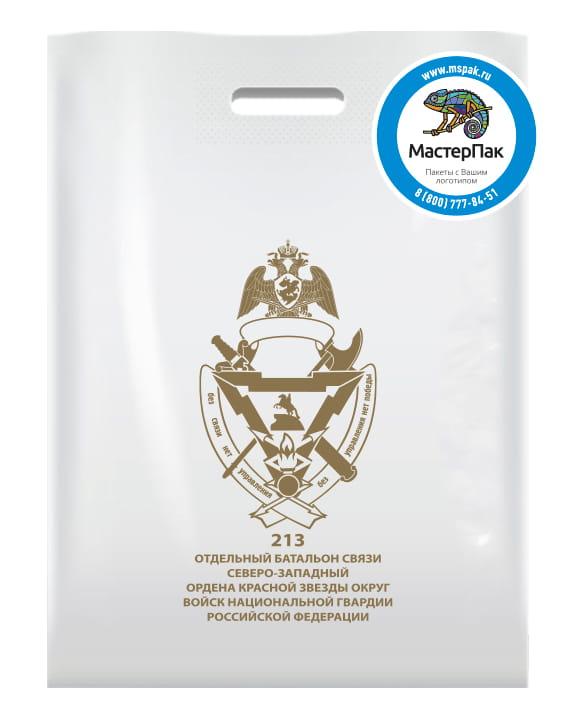 """Пакет ПВД с вырубной ручкой и логотипом """"213 отдельный батальон связи"""""""