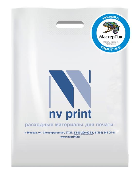 Пакет ПВД, 70 мкм, с вырубной ручкой и логотипом nv print