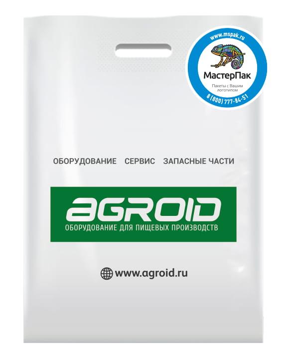 Пакет ПВД, 70 мкм, с вырубной ручкой и логотипом производителя AGROID