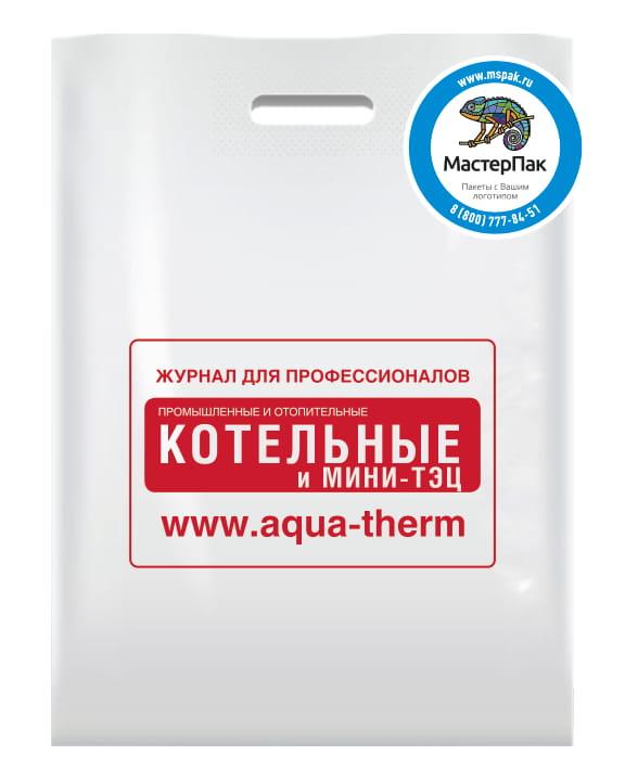 Пакет ПВД с вырубной ручкой и логотипом Журнал для профессионалов