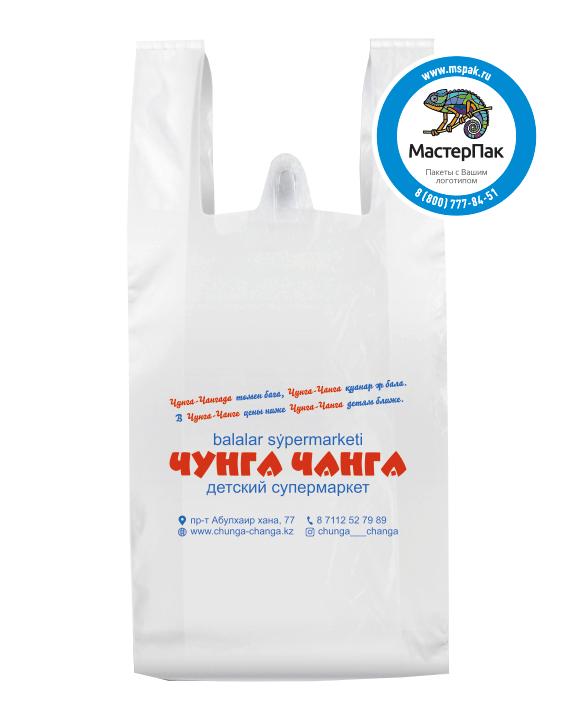 """Пакет-майка ПНД с логотипом """"Чунга Чанга"""", 38*60 см, 20 мкм"""