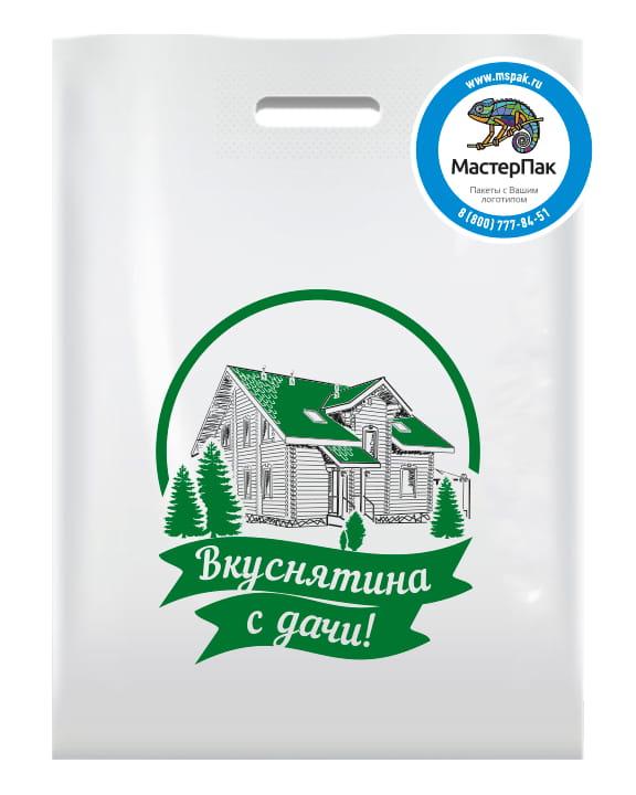 ПВД пакет, 70 мкм, 38*50, с вырубной ручкой и логотипом Вкуснятина с дачи, Москва