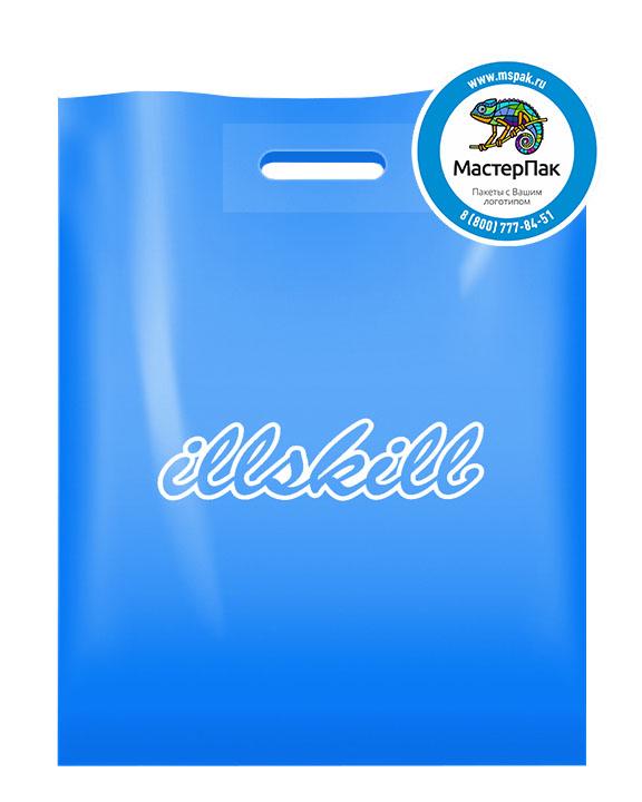 ПВД пакет, 70 мкм, 38*50, с вырубной ручкой и логотипом illskill