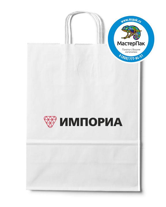 Пакет крафтовый, 80 гр., 35*15*45, крученые ручки с логотипом Импориа