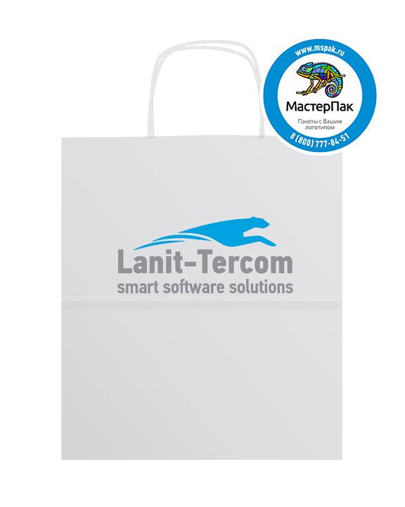 Пакет крафтовый, 32*18*37, 80 гр., крученые ручки, с логотипом Lanit-Tercom