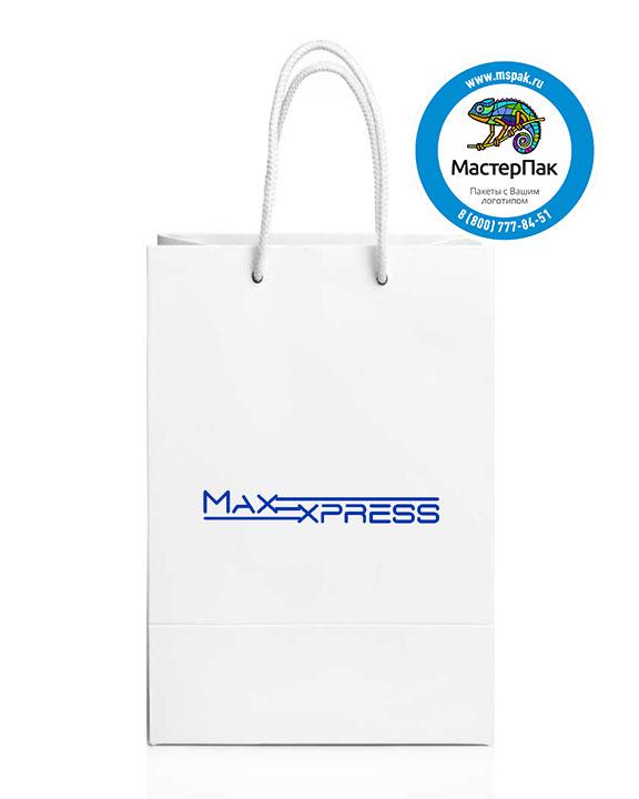 Пакет подарочный, бумажный, 30*40, с люверсами, с логотипом MAX Express