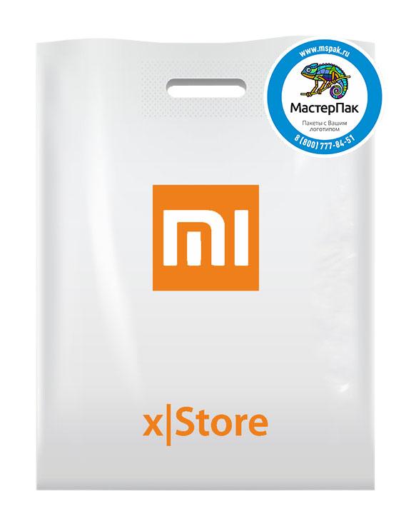 ПВД пакет, 30*40, толщина 70 мкм, с вырубной ручкой и логотипом MI xStore