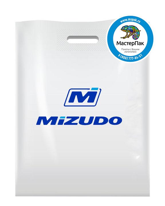 ПВД пакет, 30*40, толщина 70 мкм, с вырубной ручкой и логотипом MIZUDO