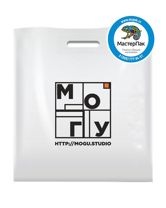 ПВД пакет, 45*50, толщина 70 мкм, с вырубной ручкой и логотипом МОГУ