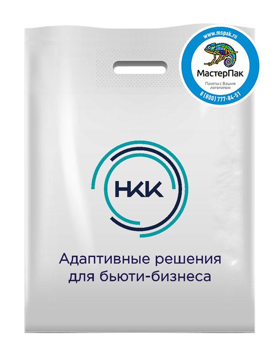 Пакет ПВД с логотипом НКК, 70 мкм, 30*40, белый