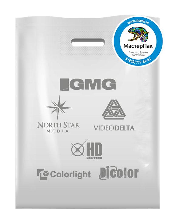Пакет ПВД с логотипом GMG, 70 мкм, 30*40, белый
