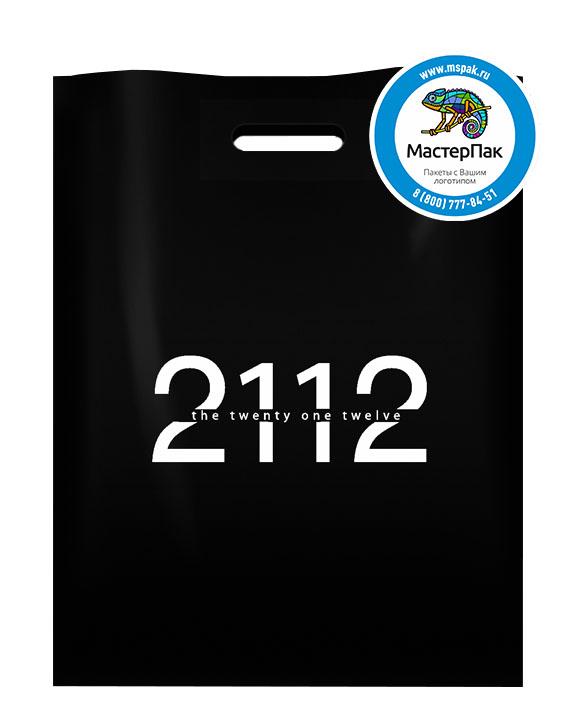 Пакет ПВД с логотипом 2112, 70 мкм, 36*45, чёрный