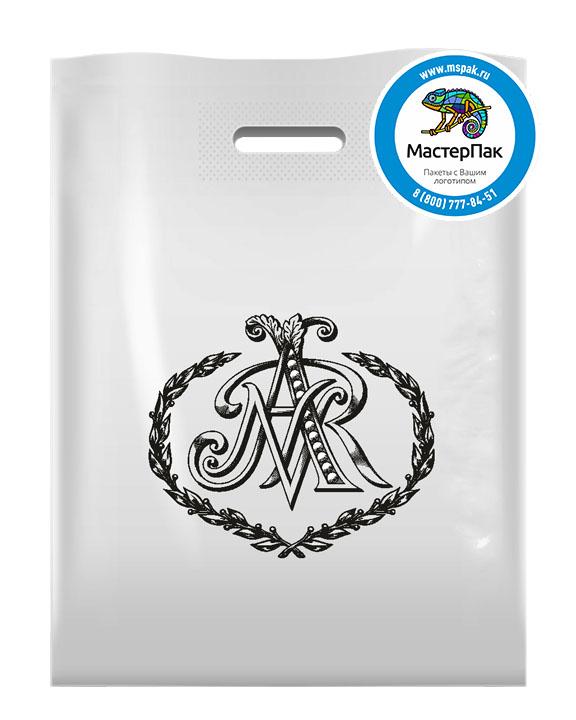 ПВД пакет с логотипом ANR, 70 мкм, 30*40, белый, Москва