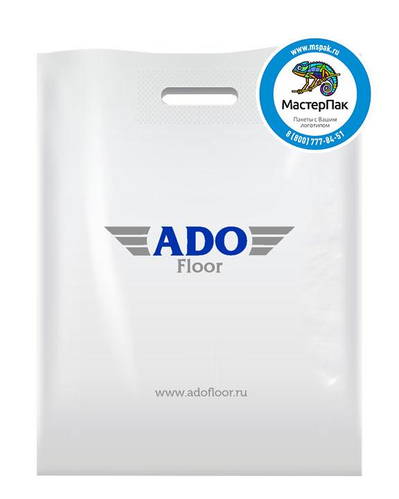 ПВД пакет с логотипом ADO Floor, 70 мкм, 36*45, белый,