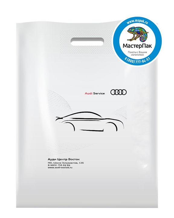 Пакет из ПВД с логотипом Audi Service, 70 мкм, 30*40, белый