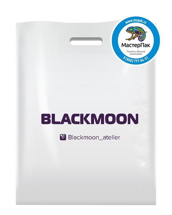 Пакет из ПВД с логотипом BLACKMOON, 70 мкм, 30*40, белый