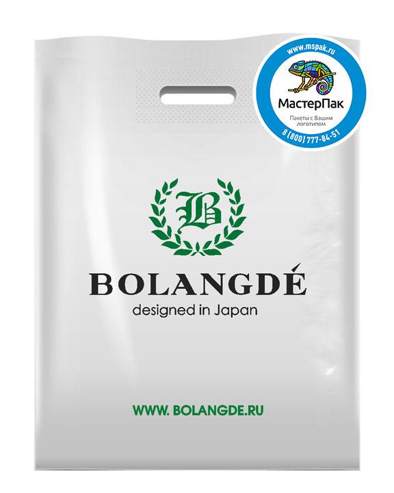 Пакет из ПВД с логотипом BOLANGDE, Котельники, 70 мкм, 30*40, белый