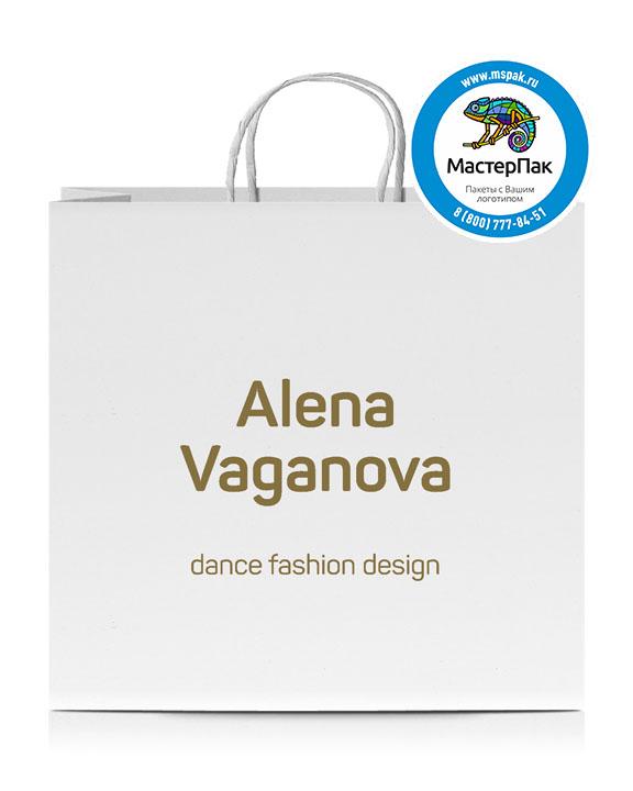 Пакет крафтовый с логотипом Alena Vaganova, 48*12*45, Санкт-Петербург, 100 гр., крученые ручки