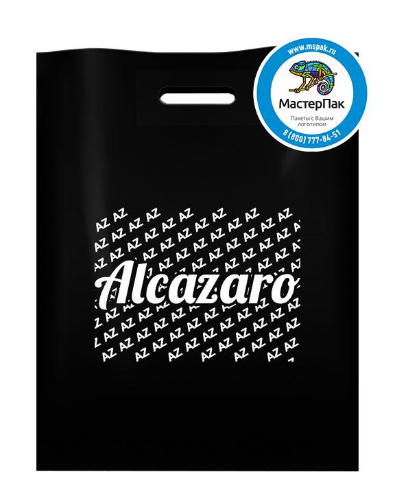 ПВД пакет с логотипом ALCAZARO, 70 мкм, 38*50, чёрный, Москва