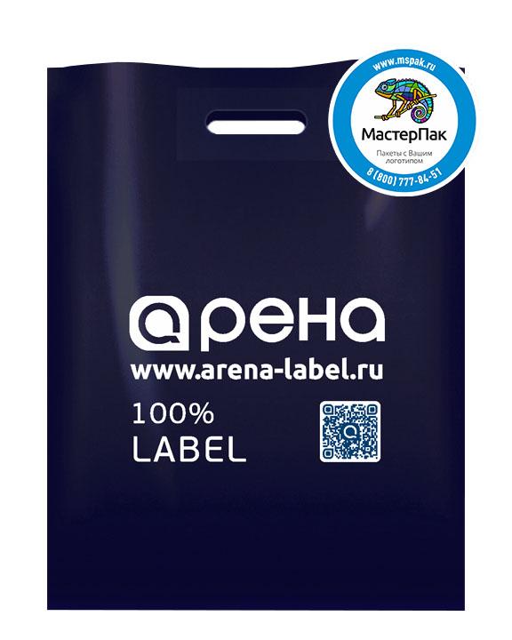 ПВД пакет с логотипом Арена, 70 мкм, 38*50, синий, Санкт-Петербург