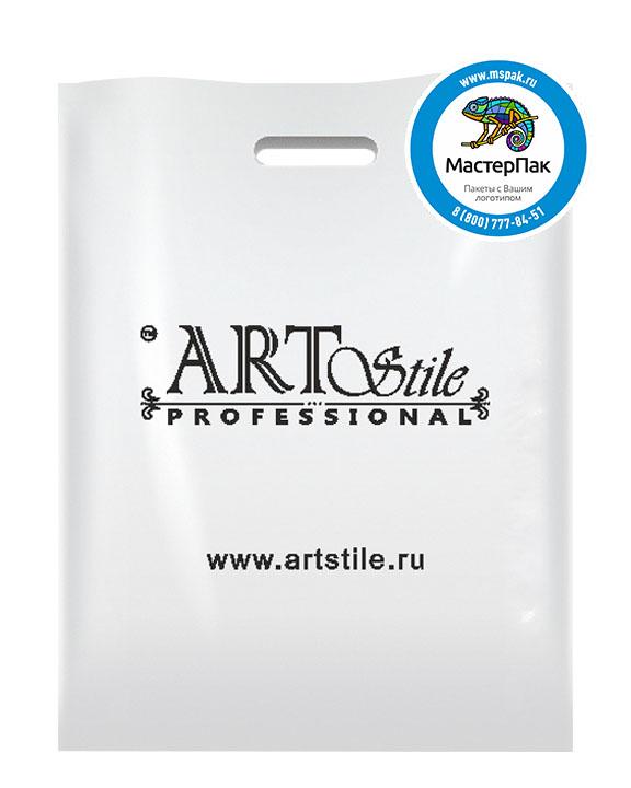 ПВД пакет с логотипом ART Stile, 70 мкм, 25*40, белый, Благовещенск