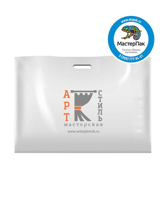 Пакет из ПВД с логотипом АРТ Стиль, 70 мкм, 70*50, белый, Москва