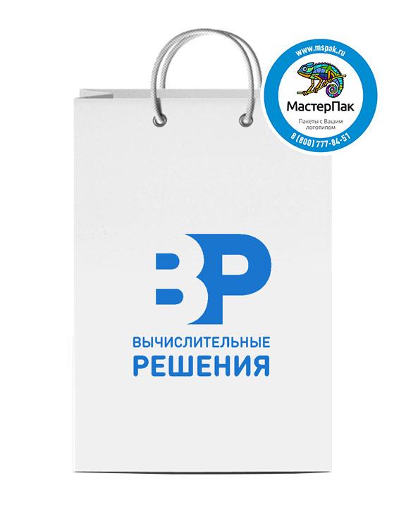 Пакет подарочный, бумажный, 30*40, 160 гр.,с люверсами, с логотипом Вычислительные решения