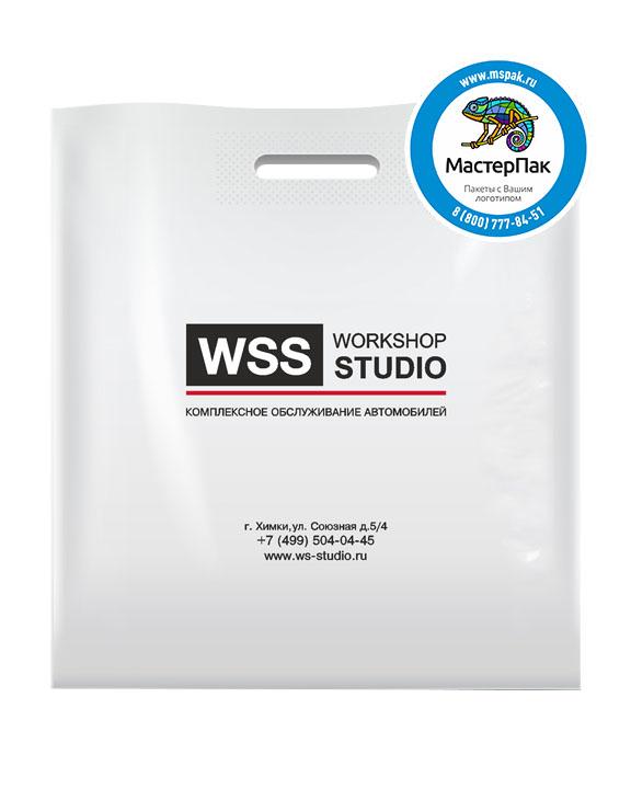 Пакет из ПВД с логотипом WSS, Химки, 70 мкм, 36*45, белый