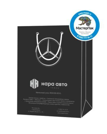 """Пакет подарочный, бумажный, 43*43, 200 гр.,с люверсами, ручка шнур, с логотипом """"НАРА Авто"""", Наро-Фоминск"""